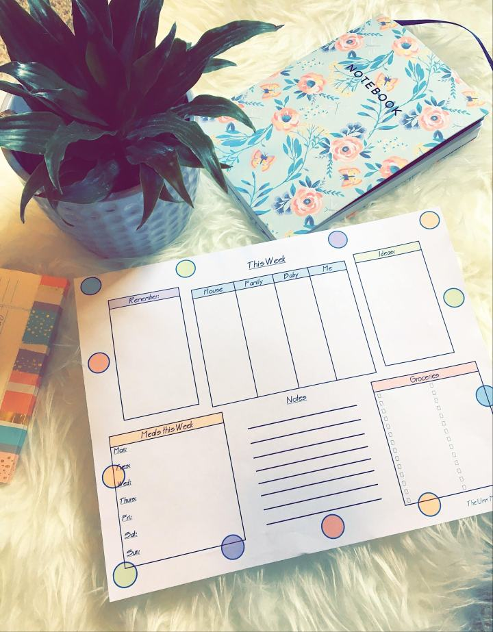 Freebie! Weekly PlanningMap