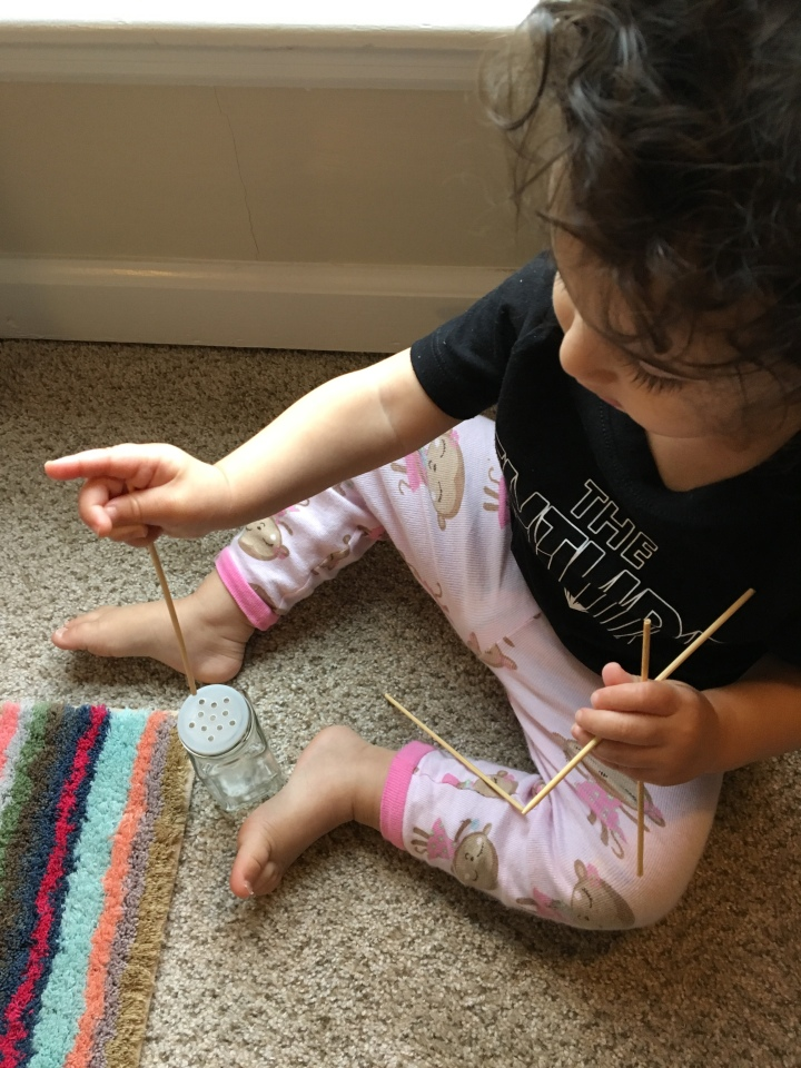 Kabob Stick Fine Motor Activity (15 months)