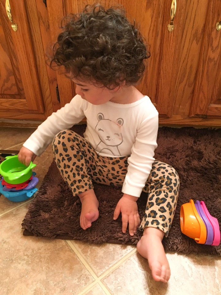 What is your child doing while you get ready for theday?